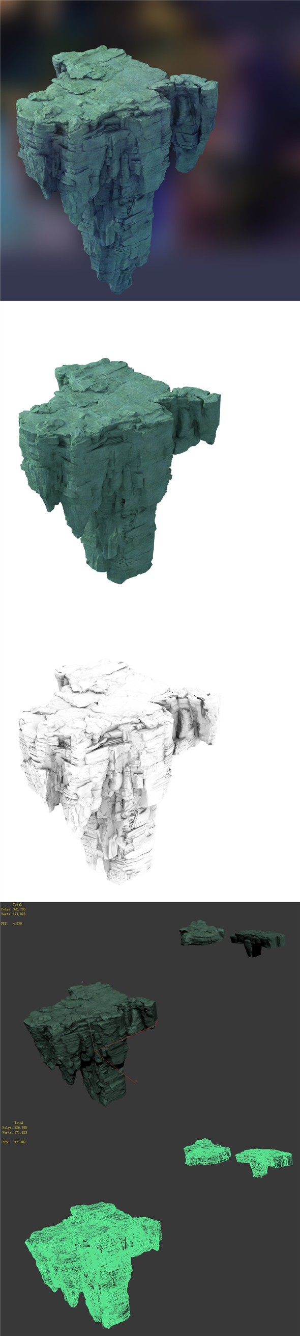 Terrain - Stone 05 - 3DOcean Item for Sale