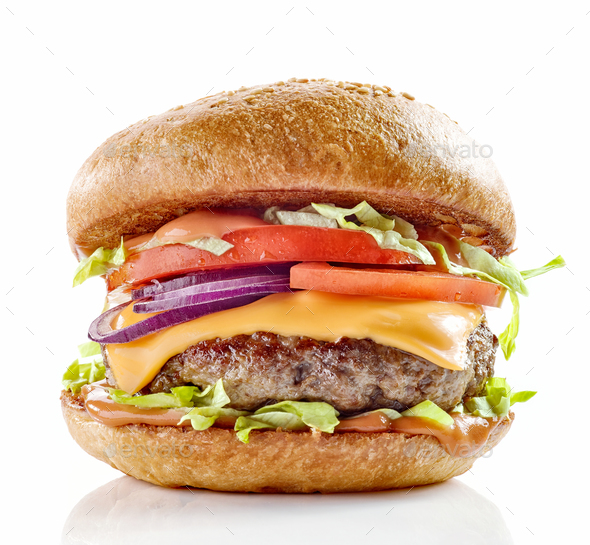 fresh tasty burger - Stock Photo - Images