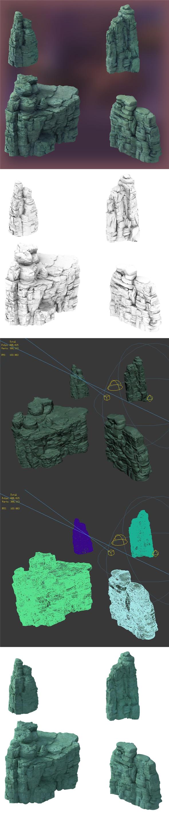 Terrain - Stone 07 - 3DOcean Item for Sale