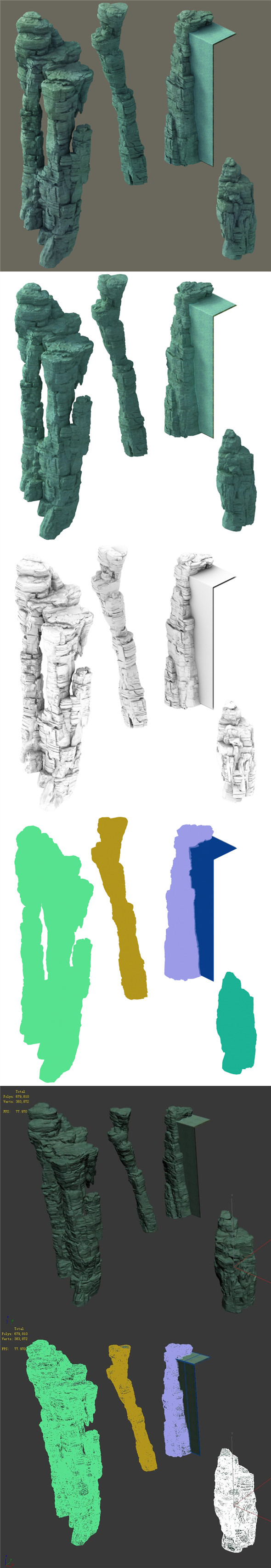 Terrain - Stone 08 - 3DOcean Item for Sale