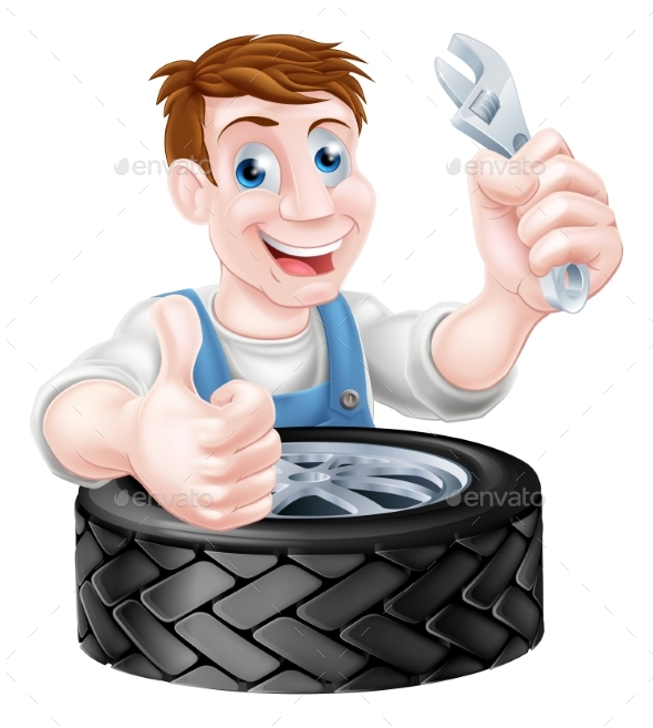 Tire Mechanic - People Characters