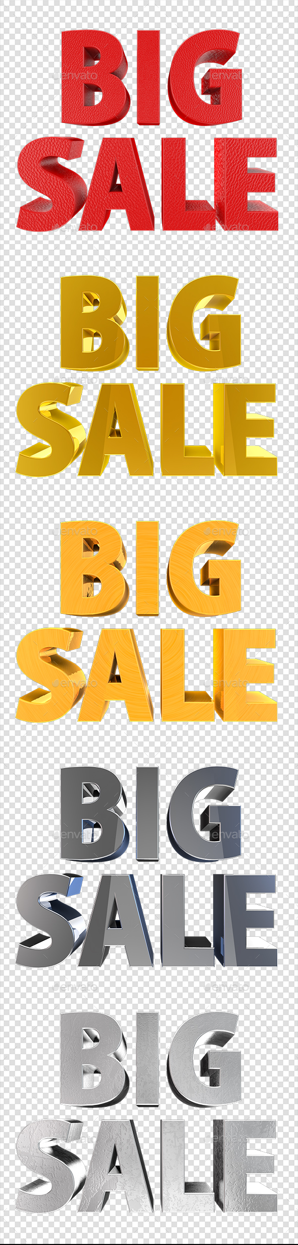 Big Sale - Text 3D Renders