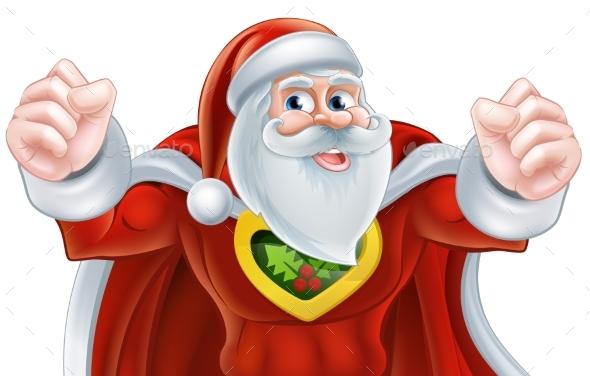 Santa Super Hero - Christmas Seasons/Holidays