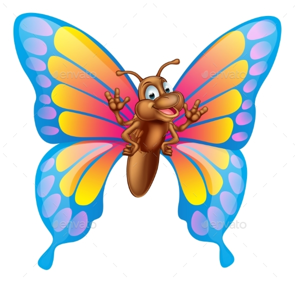 Cartoon Butterfly - Animals Characters
