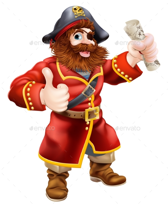 Cartoon Thumbs Up Pirate - People Characters