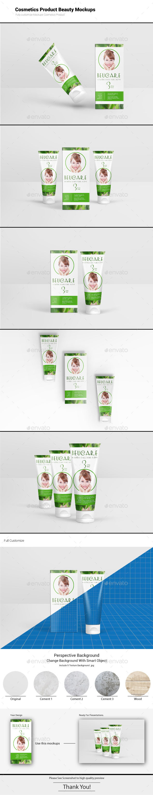 Cosmetics Product Beauty Mockups - Beauty Packaging