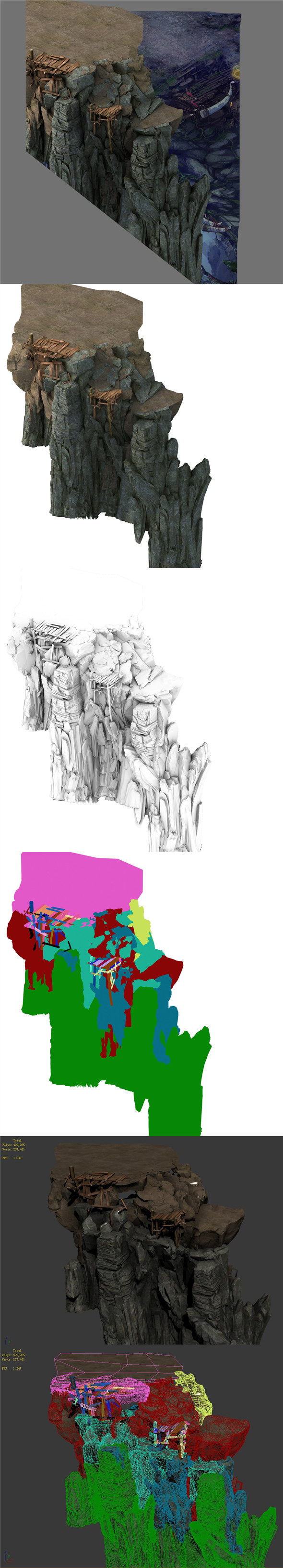 Terrain - Stone Road 03 - 3DOcean Item for Sale
