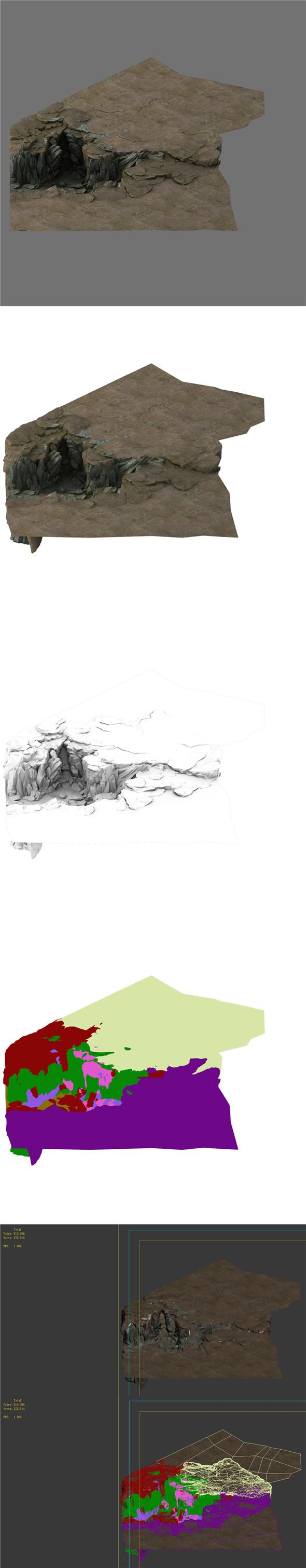 Terrain - Stone Road 04 - 3DOcean Item for Sale