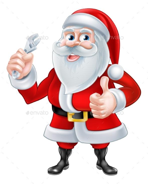 Santa Plumber Concept - Christmas Seasons/Holidays