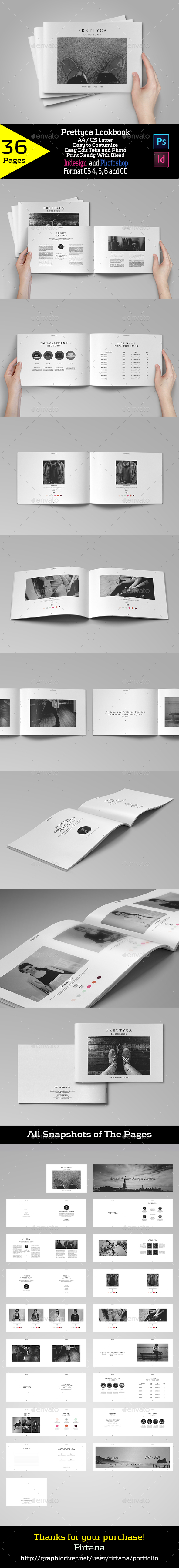 Prettyca Lookbook - Portfolio Brochures