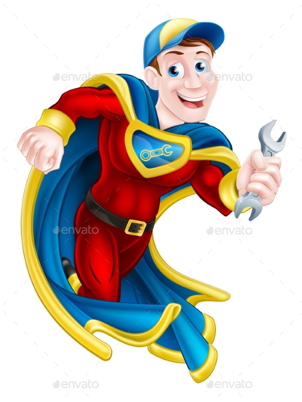 Superhero Holding Spanner - Industries Business