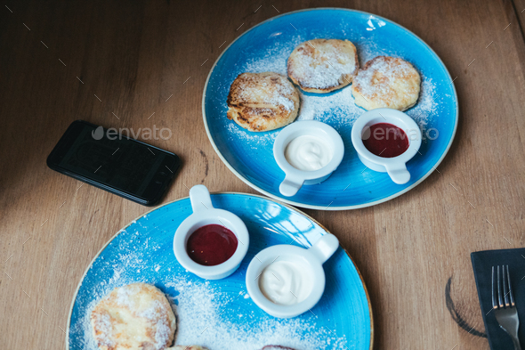 pancakes on a plate - Stock Photo - Images