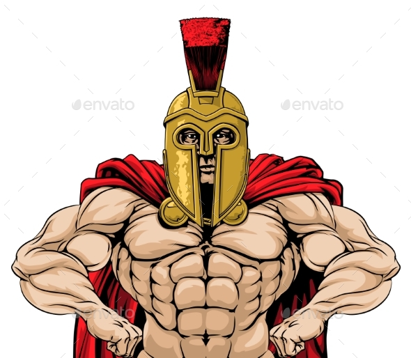 Spartan Soldier Illustration - People Characters