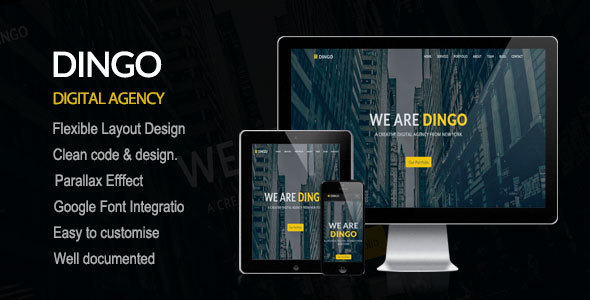 DINGO -  Responsive & elegant One Page Template - Creative Site Templates