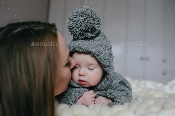 happy mother and her baby girl - Stock Photo - Images