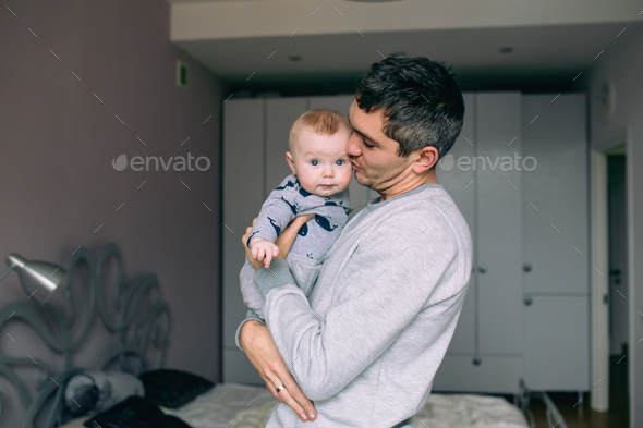 Father playing with his daughter - Stock Photo - Images