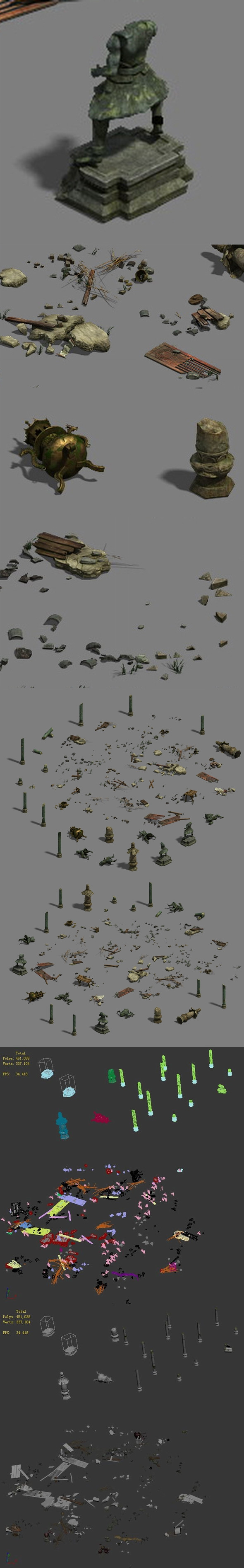 Ruins - small objects - 3DOcean Item for Sale