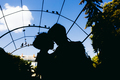 silhouette of couple on a sky background - PhotoDune Item for Sale