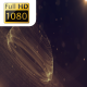 Abstract Rotating Gold Particles - VideoHive Item for Sale