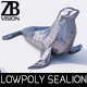 Lowpoly Sealion - 3DOcean Item for Sale