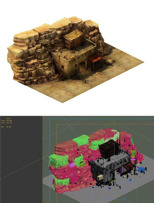 Gobi Desert - Cottage Main House 02 - 3DOcean Item for Sale