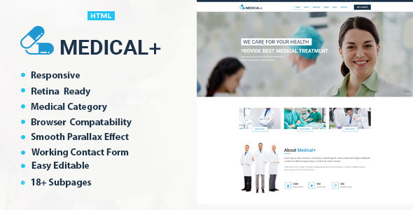 Medical Plus – Health And Medical HTML Template