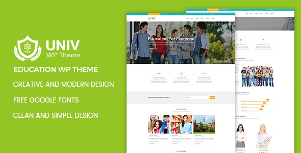 Univ – Education WordPress Theme - Education WordPress