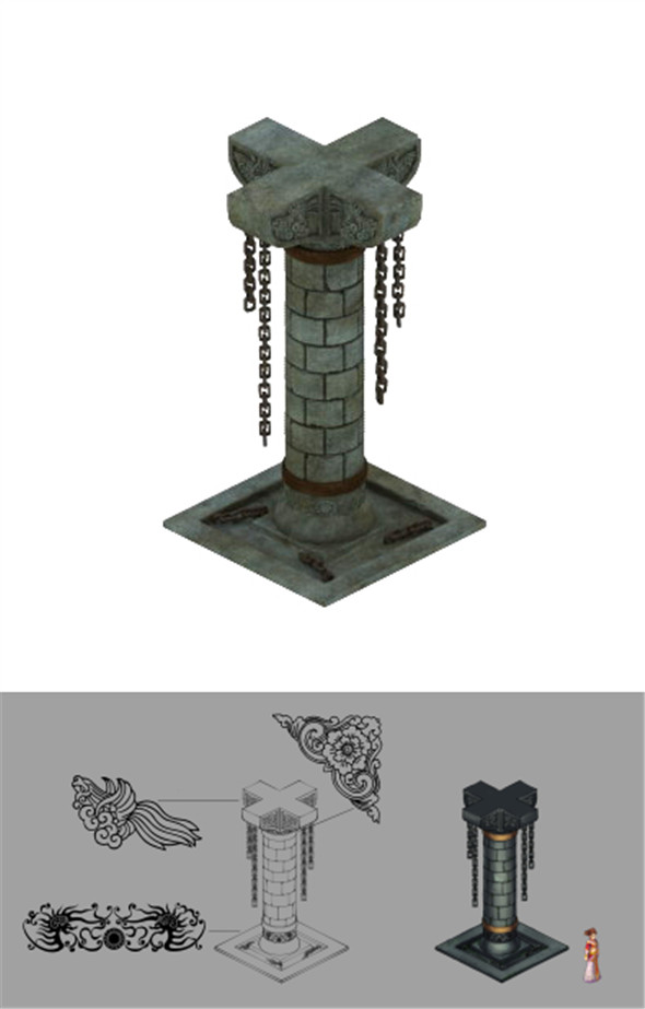 Tomb - the palace pillars - 3DOcean Item for Sale
