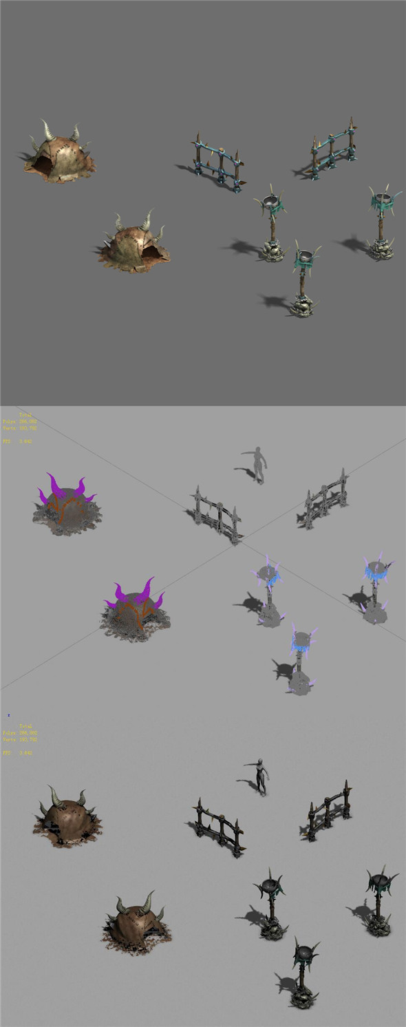Monster base - decoration - 3DOcean Item for Sale