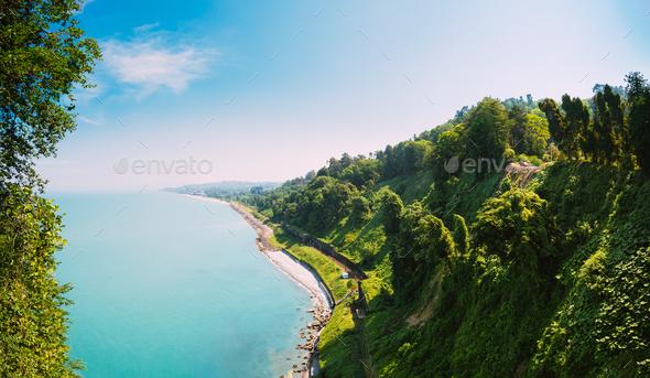 Batumi, Adjara Georgia. Beautiful Summer View From Botanical Gar - Stock Photo - Images