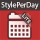 Styleperday Lite (Custom css, background, music, define style for specific dates)