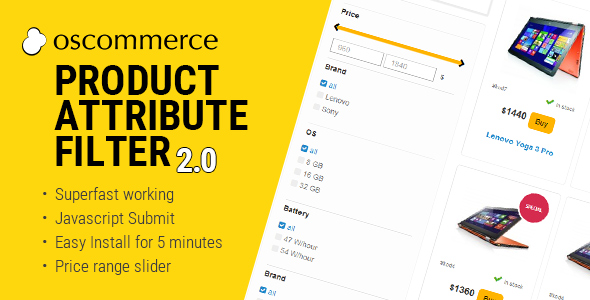 Download Product Attribute Filter 2.0 for osCommerce nulled version