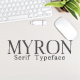 Myron Serif Typeface - GraphicRiver Item for Sale