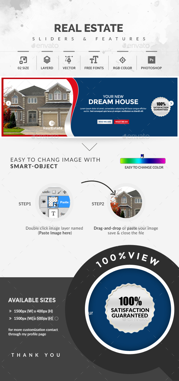 Real Estate Sliders - Sliders & Features Web Elements