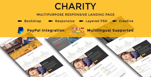 CHARITY - Multipurpose Responsive HTML Landing Pages - Nonprofit Landing Pages