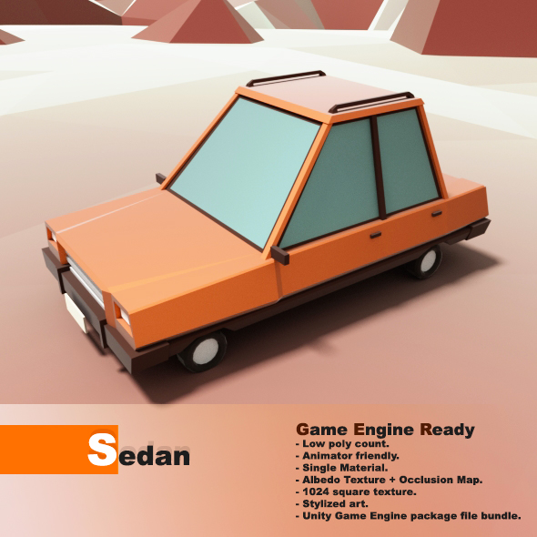Low Poly Vehicle - 3DOcean Item for Sale