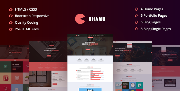 Khamu | Corporate, Business, Portfolio, Digital Agency HTML5 Template