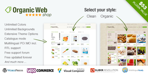 Organic Web Shop - An Organic and Responsive WooCommerce Food, Farn and Eco Theme - WooCommerce eCommerce