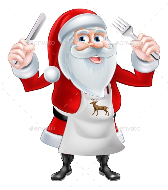 Chef Santa Concept - Food Objects