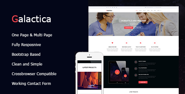 Galactica | Creative Multi-purpose WordPress Theme
