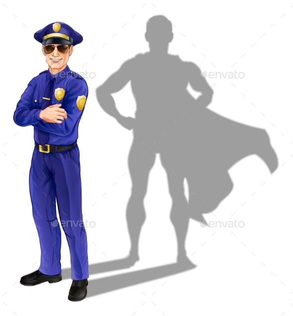 Superhero Policeman - People Characters