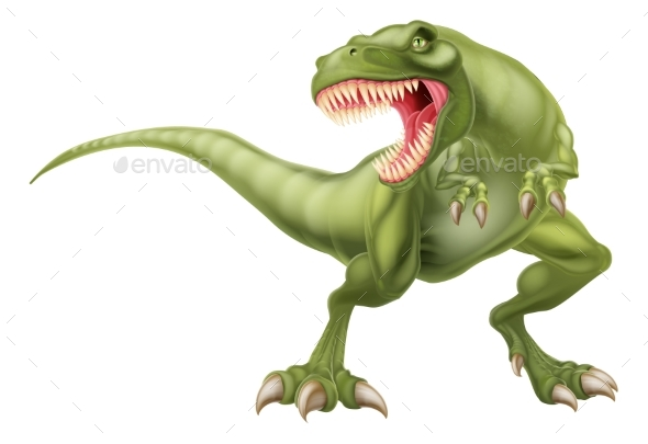 T Rex Dinosaur Illustration - Animals Characters