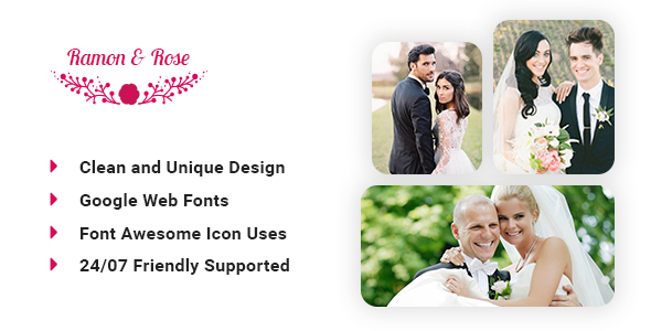 Ramon & Rose – Wedding event template