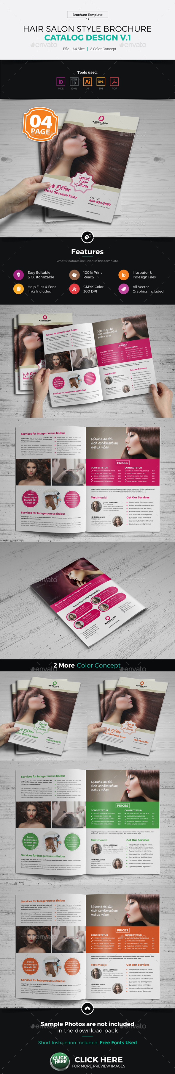 Hair Salon Style Brochure Design - Corporate Brochures
