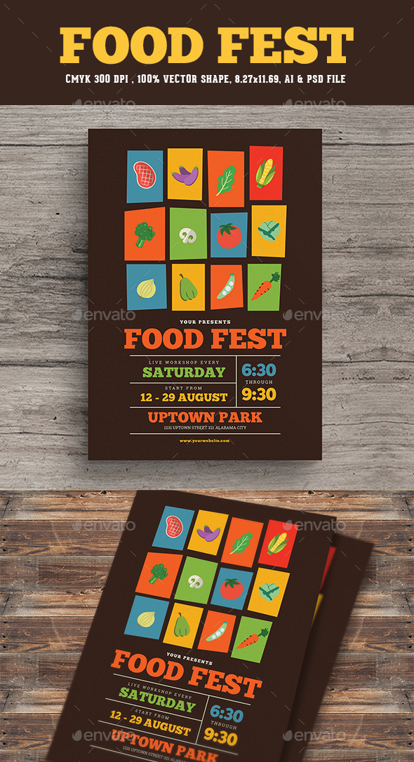Food Festival Flyer - Flyers Print Templates