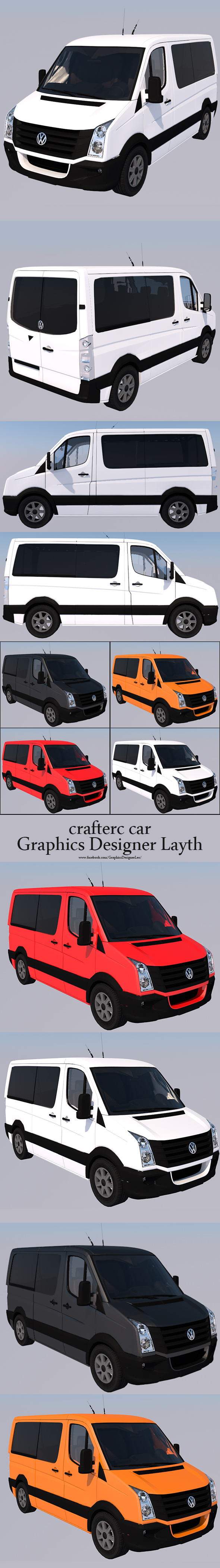 Volkswagen Crafter ( Full textures & editor ) - 3DOcean Item for Sale