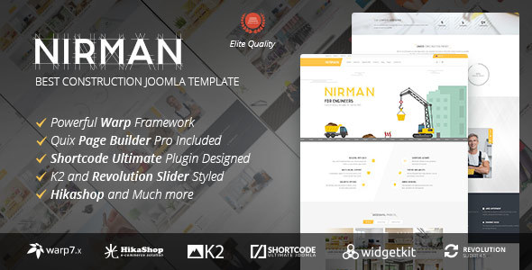 Nirman - Professional Construction Joomla Template - Business Corporate
