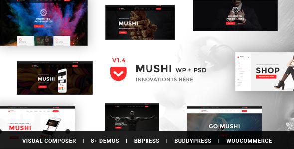 Mushi - Responsive Multi-Purpose & WooCommerce WordPress Theme - Business Corporate