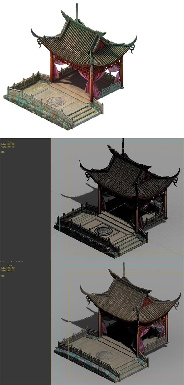 Fox Xiange - Gazebo - 3DOcean Item for Sale