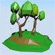 Low poly | Summer Scene - 3DOcean Item for Sale